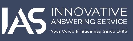 innovative answering service white logo